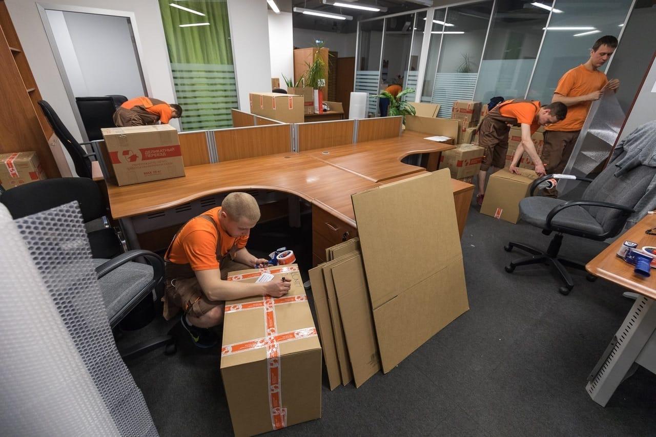 Офисный переезд с грузчиками в Москве